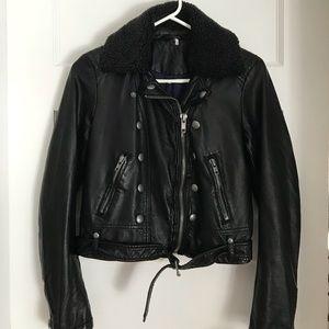 NEW!! Free People: Ashville faux-leather jacket